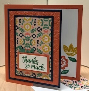 In symmetry thank you card