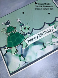 Stampin up turtle friends alcohol technique birthday wm close up
