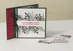 2021 christmas card with sparkle of the season stamp set