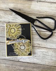Celbrat sunflower coloring technique