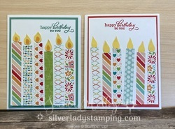 Birthday candles card from scraps