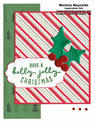 Christmas to remember foil holly watermark