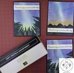 Night sky soft pastel tutorial