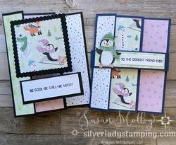 Penguin tri fold cards