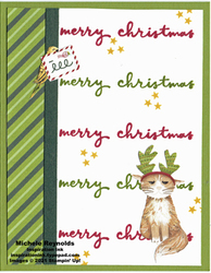 Christmas to remember holiday cat watermark