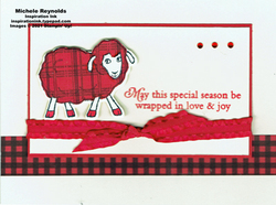 Counting sheep wrapped in wool watermark