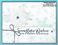 Snowflake wishes spritzed snowflakes watermark
