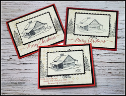 Quick and easy christmas card peaceful cabin tina zinck