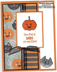 Cutest halloween fun fold smile watermark