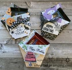 Diaper fold treat holders
