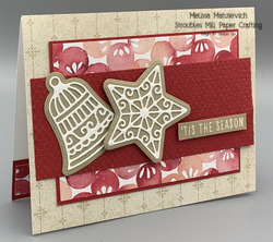 Frosted gingerbread with christmas to remember