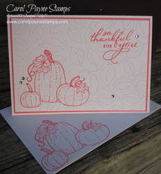 Stampin up pretty pumpkins stitched greenery carolpaynestamps1