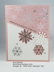 Stampin up merry snowflakes whimsy   wonder north star stamper