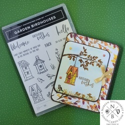 Stampin  up  garden birdhouses card tutorial