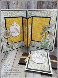 Center accordion fun fold card serene stamper