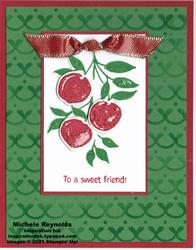 Sweet as a peach cherries friend watermark