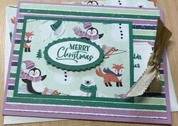 Gift tag christmas card