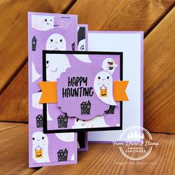 Haunting fancy fold card
