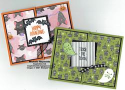 Banner year halloween fun fold card watermark