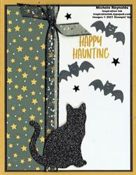 Banner year black cat haunting watermark