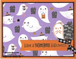 Cutest halloween faboolous ghosts watermark