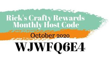 Crafty rewards monthly host code october 2020