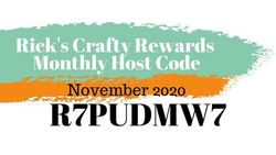 Crafty rewards monthly host code november 2020