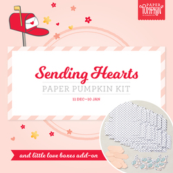2 square sending hearts