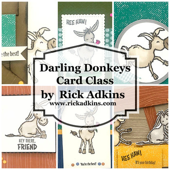 Darling donkeys card class rick adkins