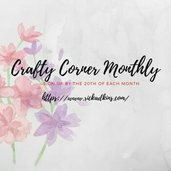 Crafty corner monthly social graphic