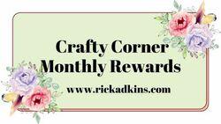 Crafty corner monthly rewards graphic