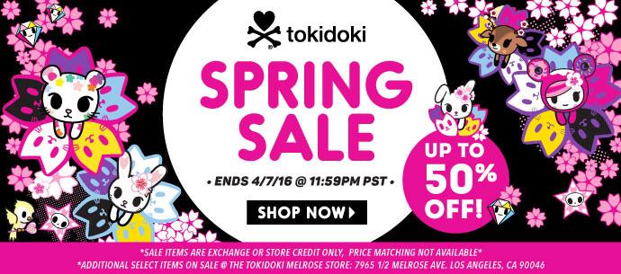 tokidoki Spring Sale 2016