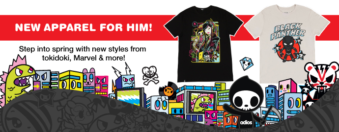 tokidoki TKDK Men's Spring Apparel!