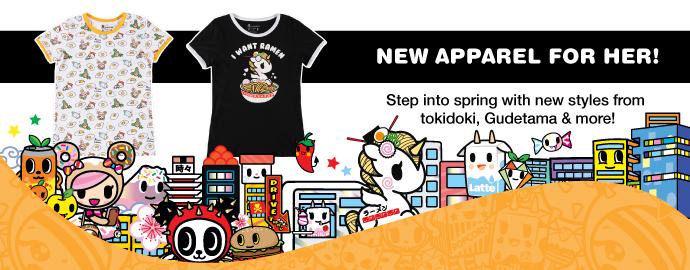 Spring tokidoki Women's Apparel!