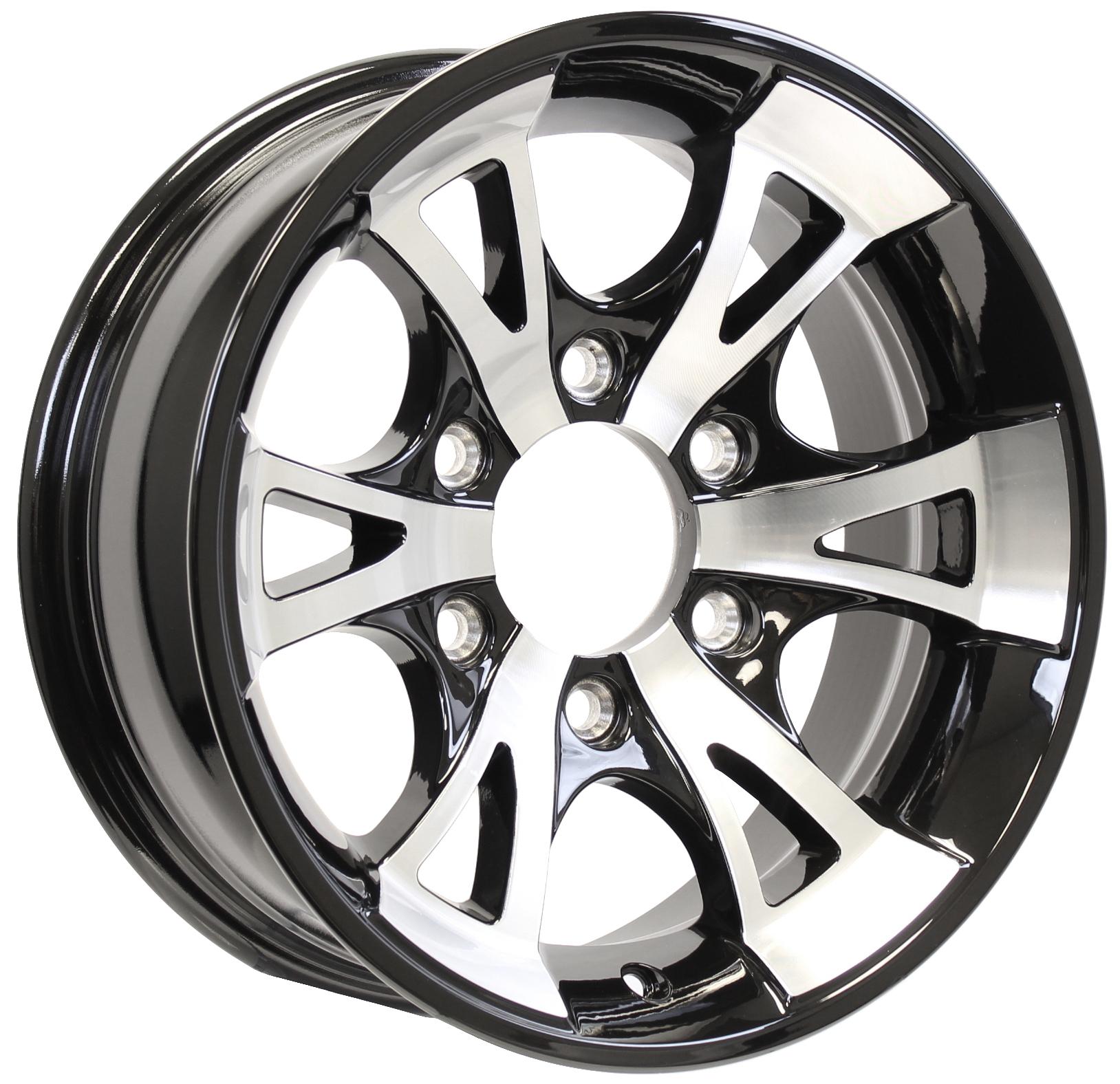 A1411- 15x6 6-5.5 Black Aluminum Trailer Wheel Image