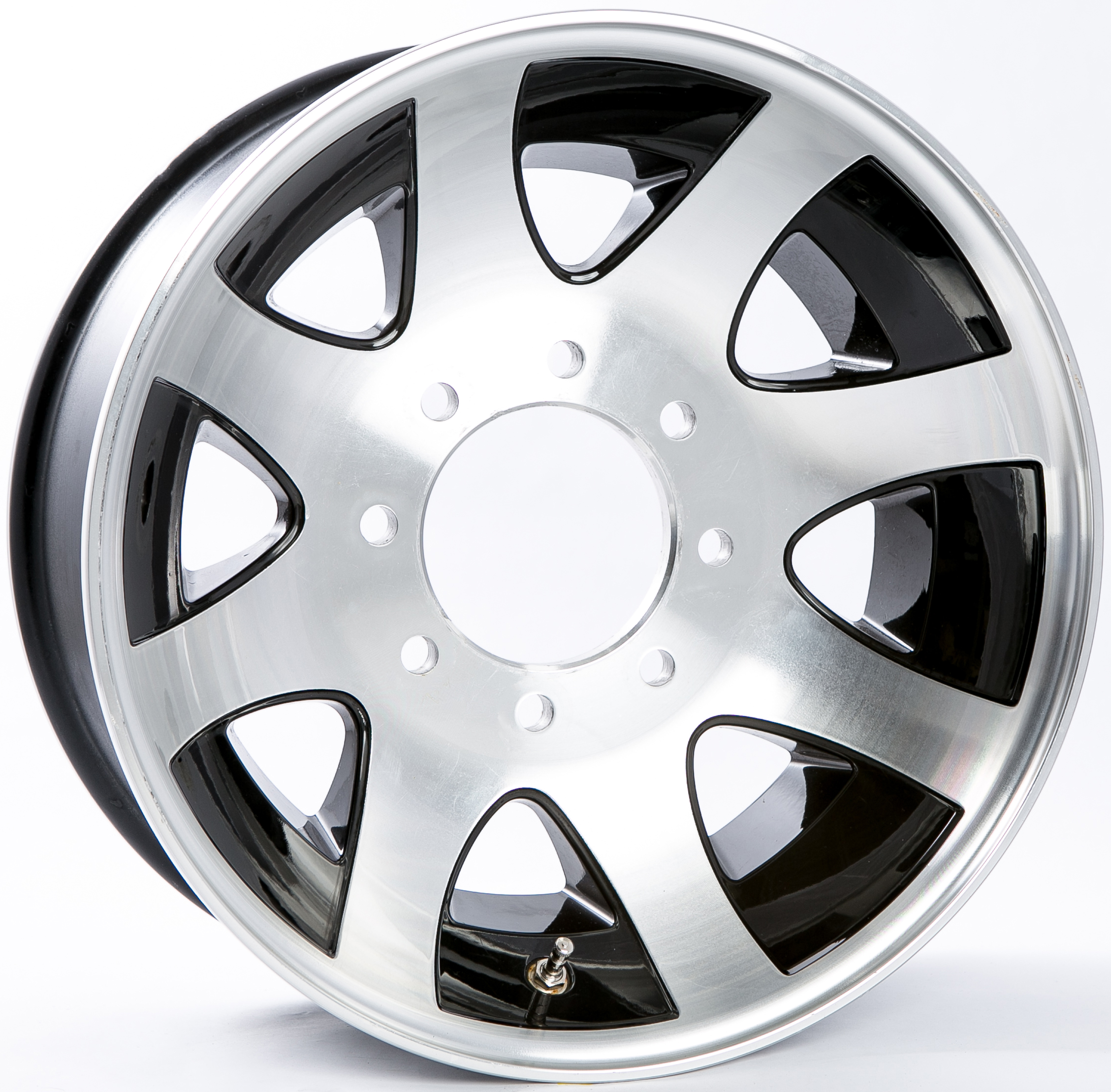 17.5x6.75 8-6.5 Black/Machine Aluminum Spoke Wheel Image