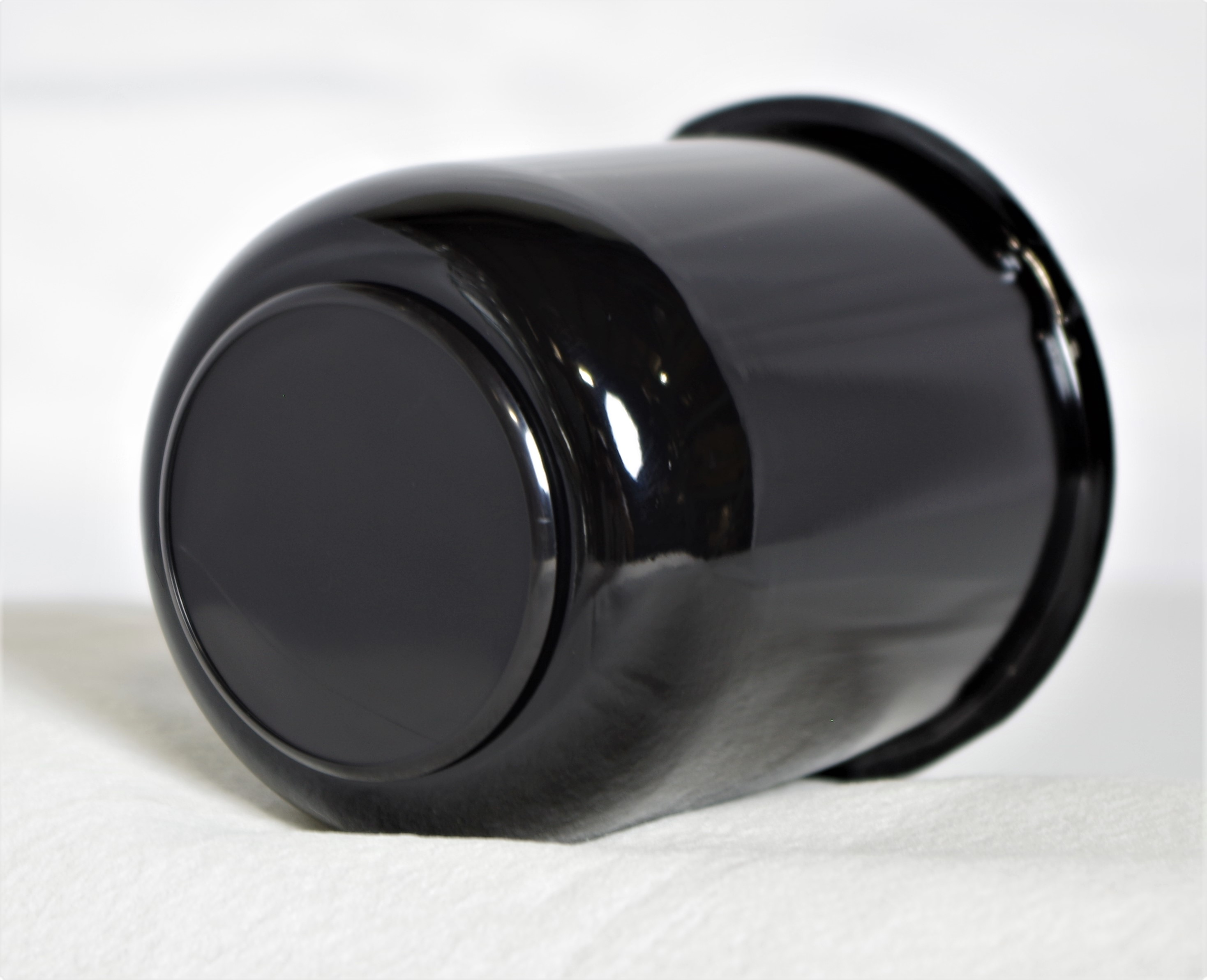 """3.19"""" Black Center Cap with Black Plug for EZ Lube Caps Image"""