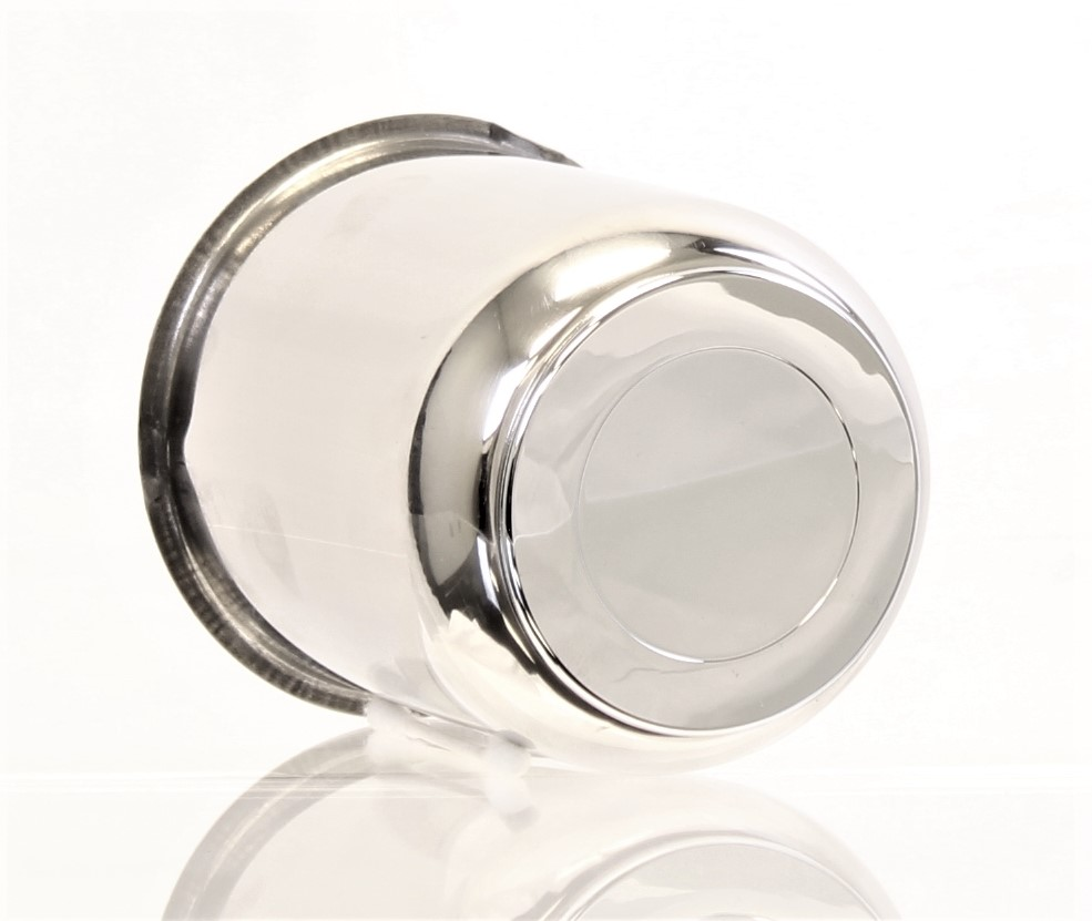 "3.75"" Stainless Steel Center Cap with Chrome Plug Insert Image"