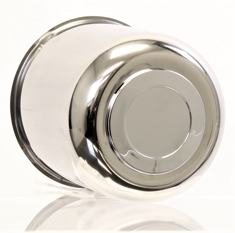 "4.90"" Stainless Steel Center Cap  with ABS Chrome Plug Image"