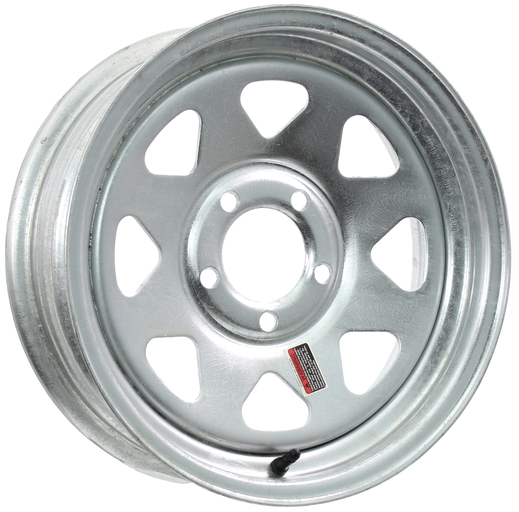 15x6 5-Lug Galvanized Spoke Steel Trailer Wheel Image