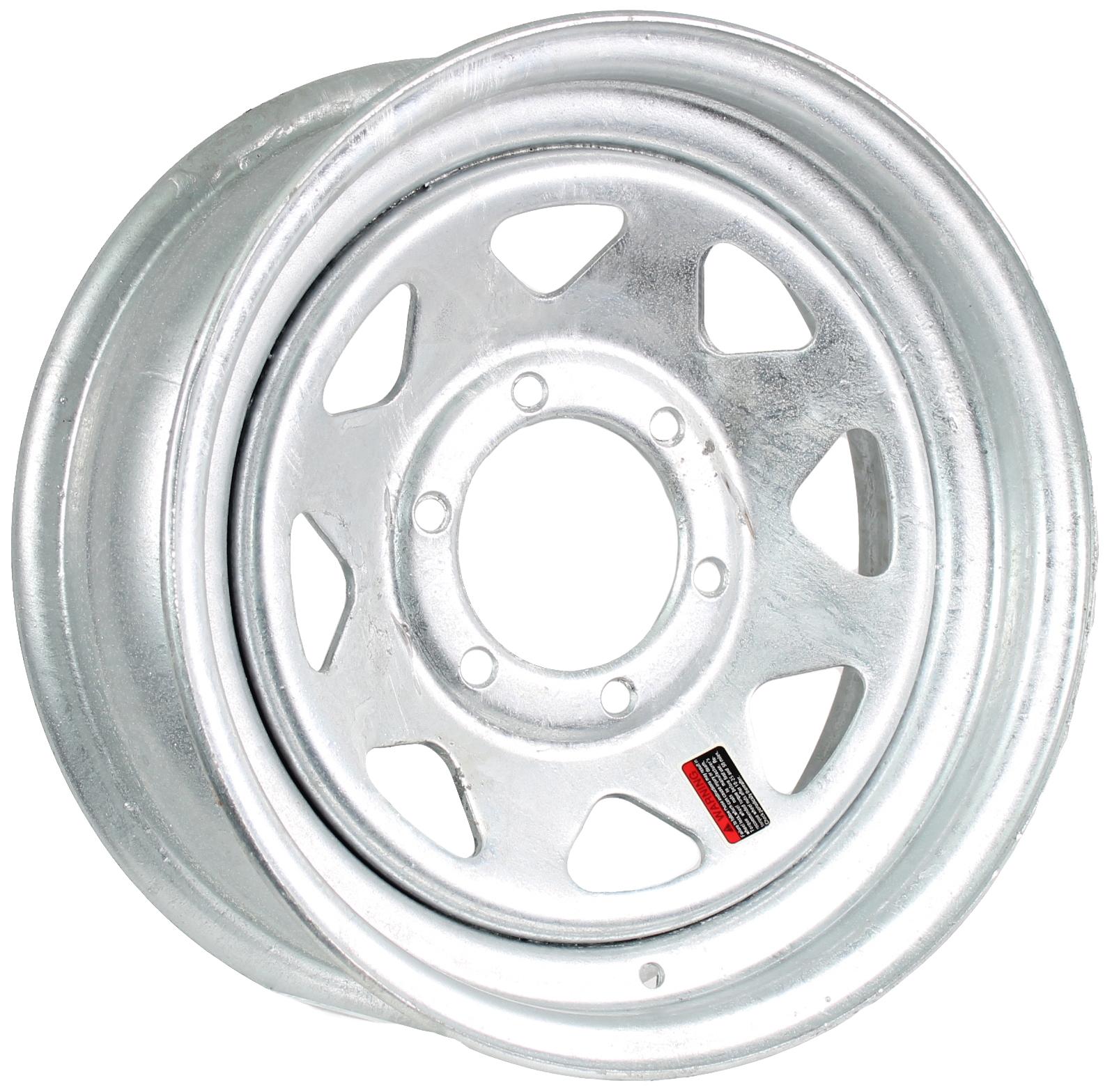 15x6 6-Lug Galvanized Steel Trailer Wheel Image