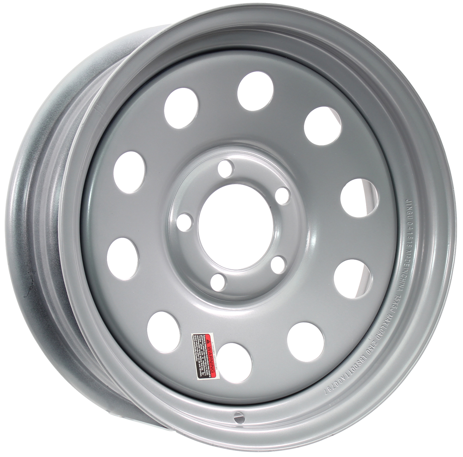 15x5 5-4.5 Silver Mod Steel Trailer Wheel Image