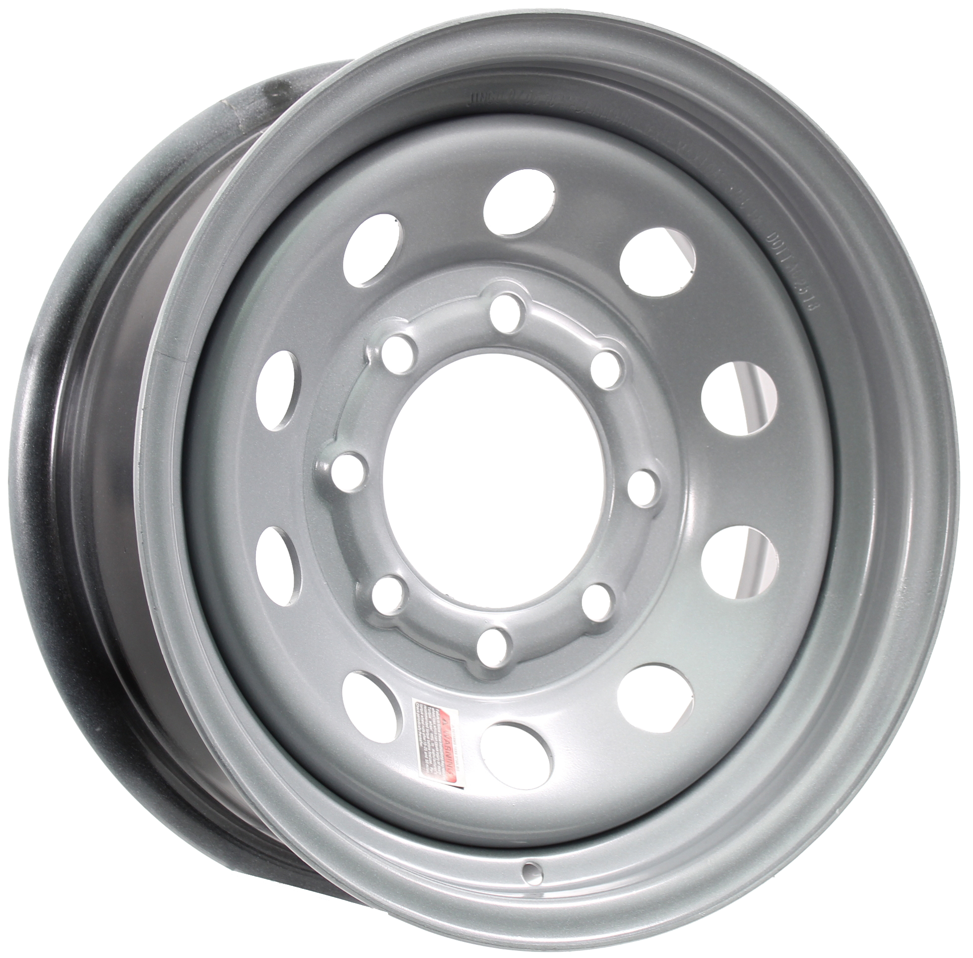 16x6 8-6.5 Silver Mod Steel Trailer Wheel Image