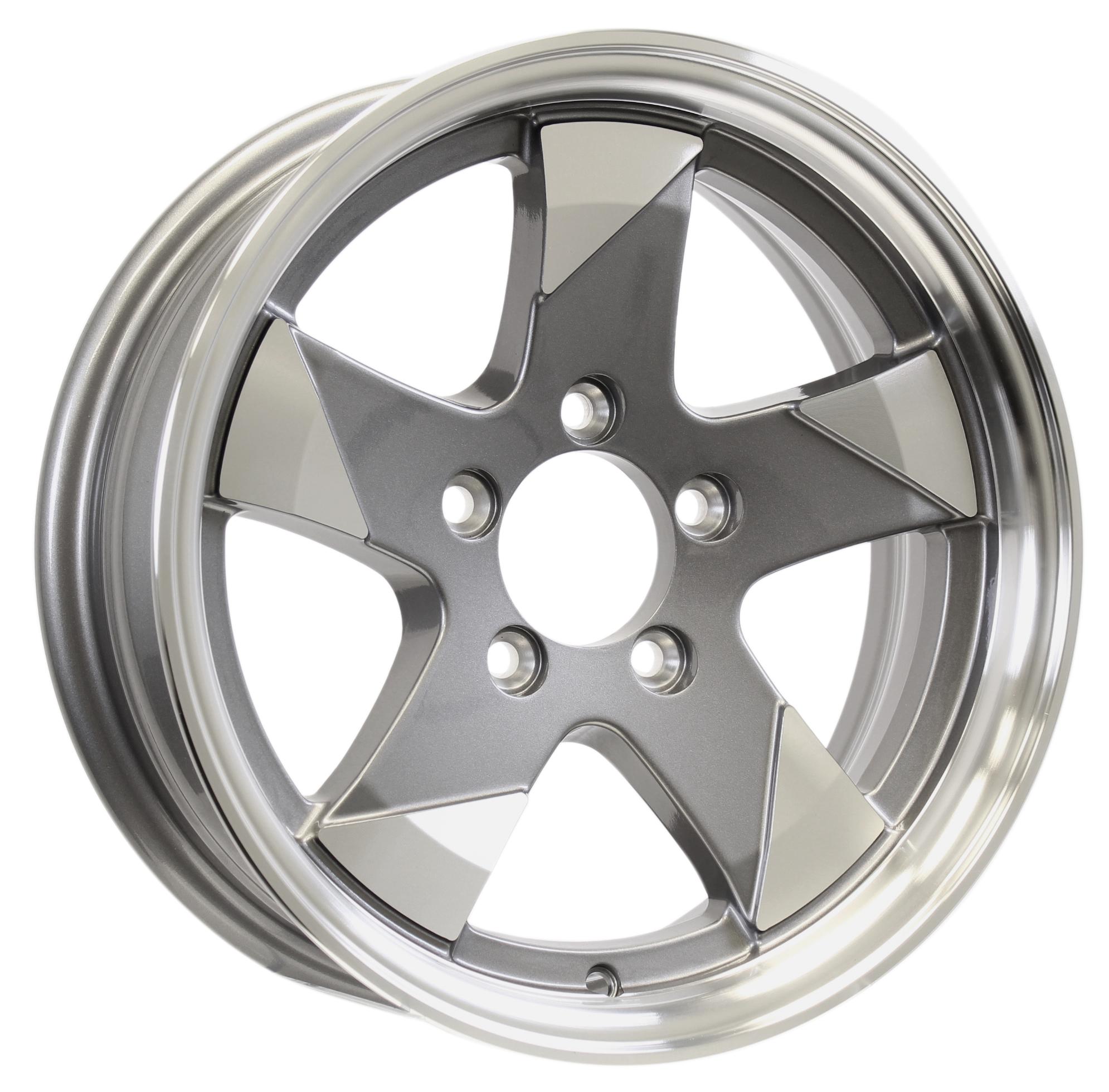 Ascent- 14x5.5 5-4.5 Gun Metal Aluminum Wheel Image