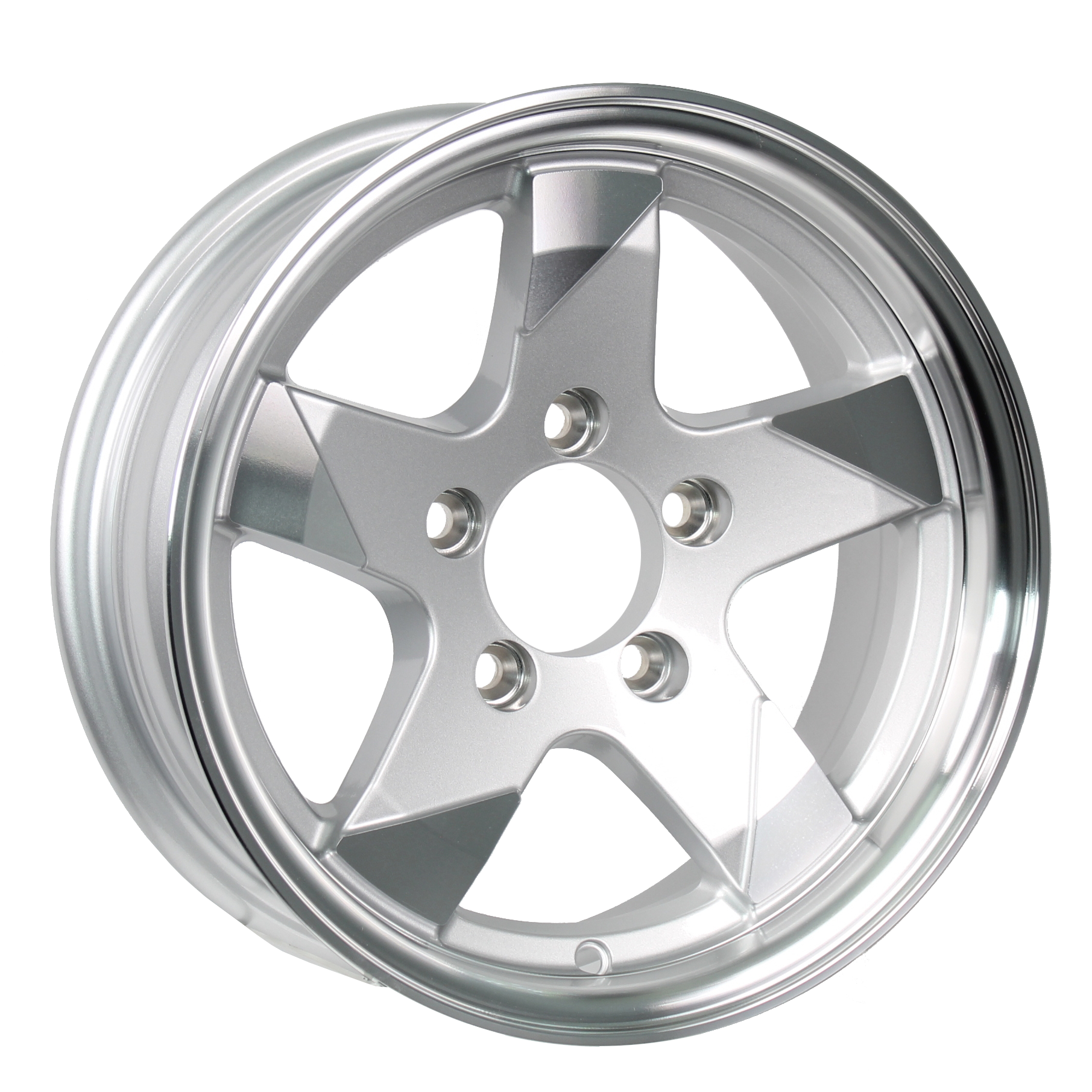 Ascent- 15x5 5-4.5 Silver Aluminum Trailer Wheel  Image