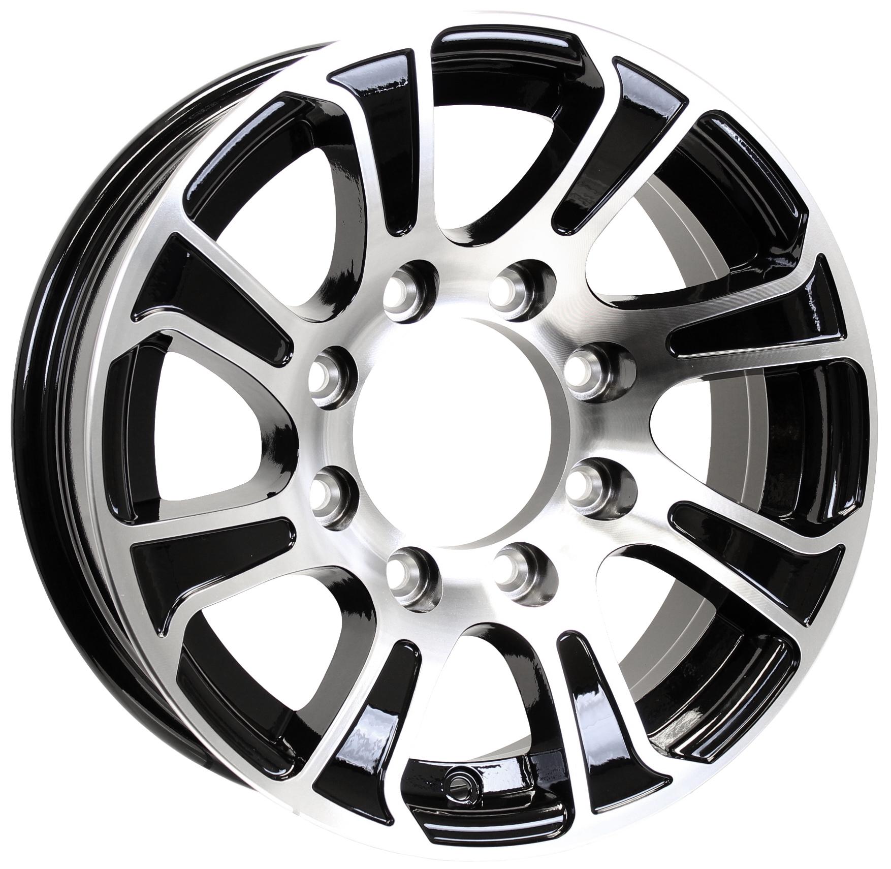 Summit 16x7; 8-Lug Black Aluminum Trailer Wheel Image