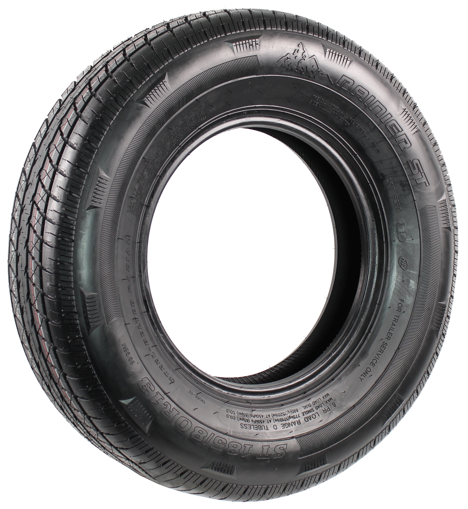 Rainier ST185/80R13 LRD 8-Ply Radial Trailer Tire Image