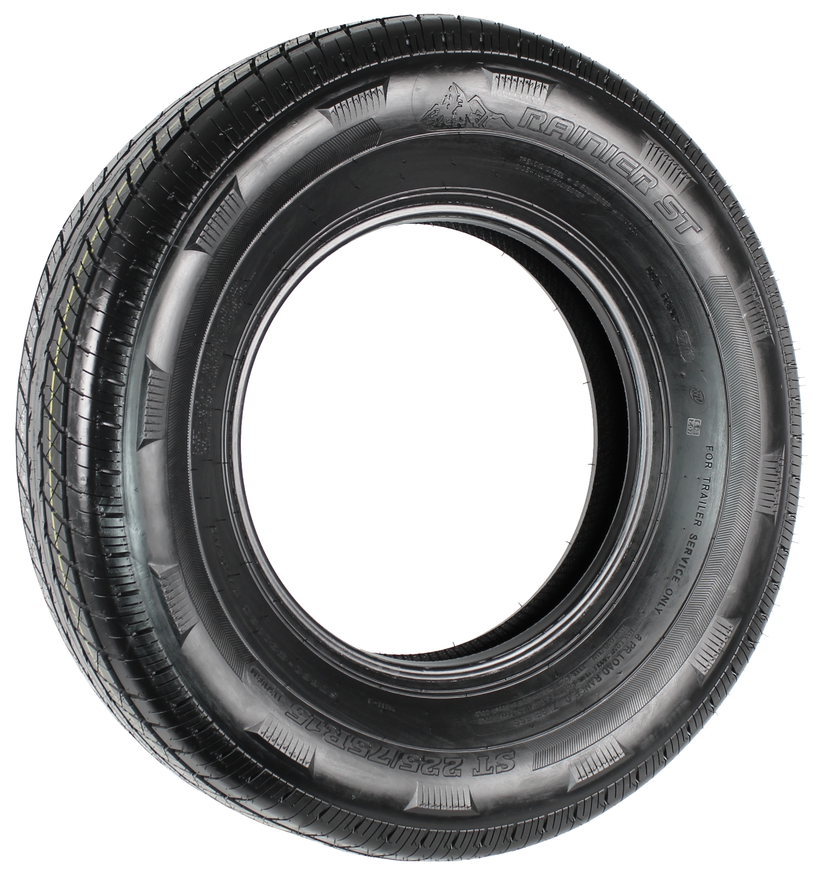 Rainier ST225/75R15 LRD 8-Ply Radial Trailer Tire Image