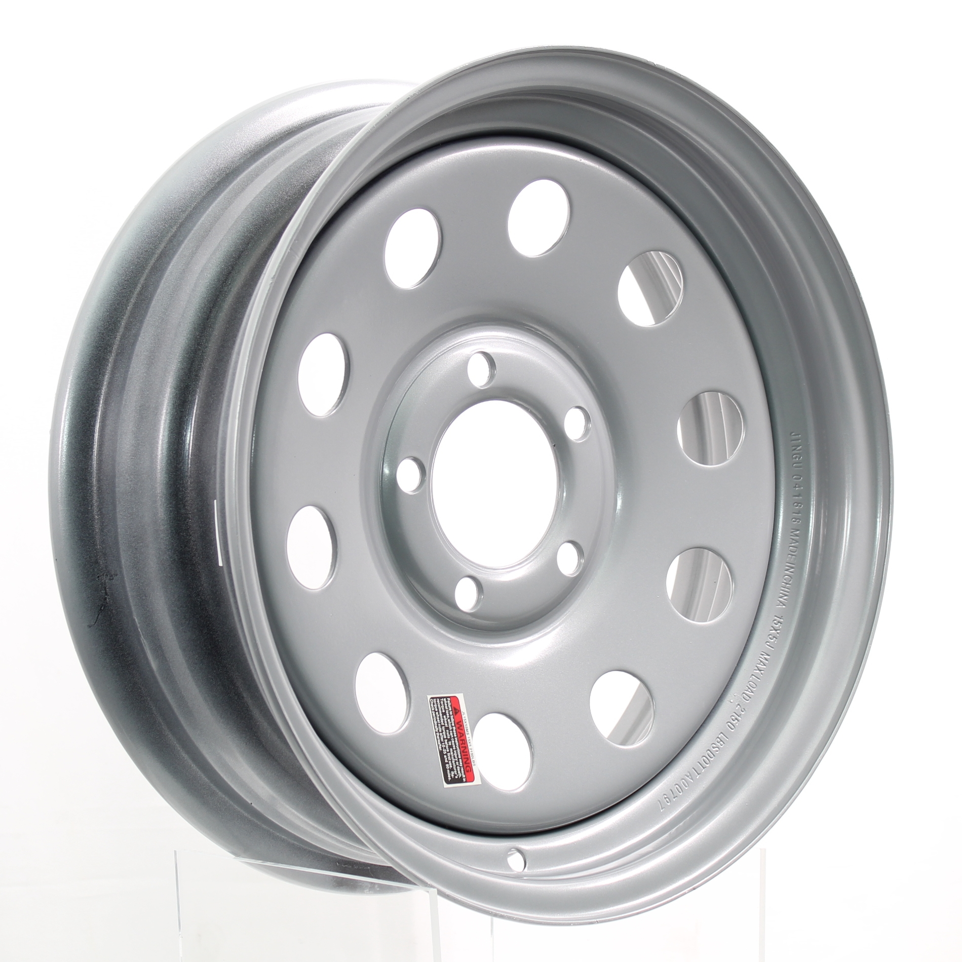 15x6 5-4.5 Silver Mod Steel Trailer Wheel  Image