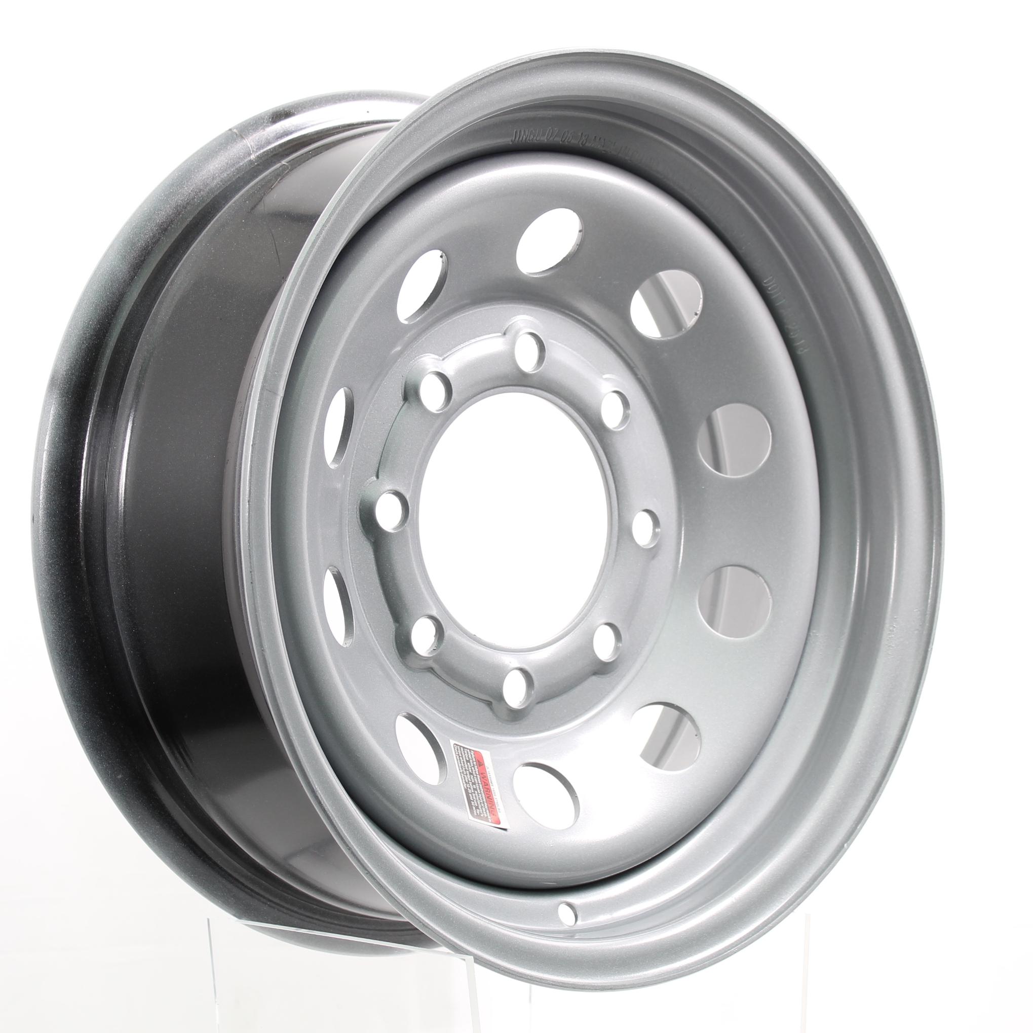 16x7 8-6.5 Silver Mod Steel Wheel Image